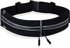 Premium Running Belt Waist Pack with Adjustable Strap and 2 Independent La