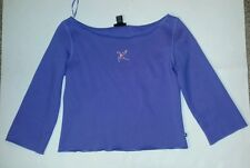 "Women's juniors purple shirt with rainstones size L by ""Express Jeans"" New!"