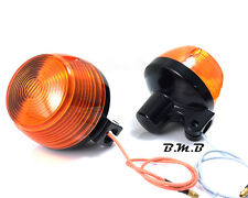 2X Front turn signal indicator blinker for 80 Honda XL100S XL125S CM200T black