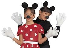 Unisex Mouse Set Inc. Ears, Nose & Gloves Minnie Mickey Fancy Dress Costume