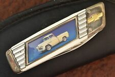 FRANKLIN MINT KNIFE IN ZIPPER POUCH COLLECTOR KNIFE 1955 CHEVY TRUCK 3100 (9001)
