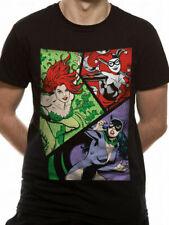 Villainesses Catwoman Harley Quinn Poison Ivy T Shirt Official DC Comics S XL