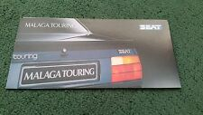 Agosto de 1988/1989 SEAT Málaga Touring edición especial-Reino Unido Folleto pequeño
