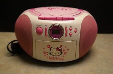 HELLO KITTY AM/FM STEREO CD CASSETTE RECORDER MODEL: KT2028 - TESTED AND WORKS