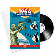 64th Birthday | Anniversary Gift -1954 4-In-1 CD Card - Story of Your Year