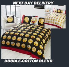 EMOJI EXPRESSIONS DOUBLE DOONA COVER SET DUVET QUILT FITS ,KIDS,REVERSIBLE