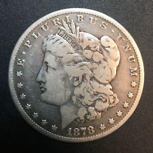 "United States - Silver 1 Dollar Coin - ""Morgan Dollar"" - CC - 1878 - VF"