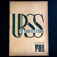 URSS en construction n°10-11 de 1930 / PROPAGANDE SOVIÉTIQUE / PHOTOMONTAGE