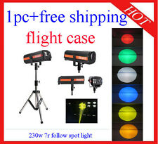 1pc Ceremony Stage 230W 7R Colorfull Follow Spot Light Flight Case Free Shipping