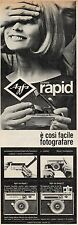 J0495 Macchina fotografica AGFA sistema Rapid - Pubblicità - 1964 Vintage Ad