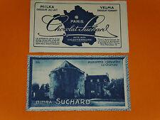 CHROMO PHOTO CHOCOLAT SUCHARD 1928 FRANCE AUXONNE CHATEAU COTE D'OR