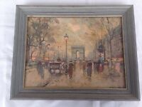 Antoine Blanchard 12x16 Arc de Triumphe Champs Elysees Paris France Art Print