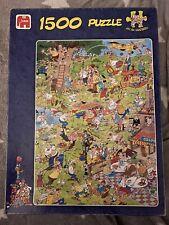 "Jan Van Haasteren Jigsaw Puzzle 1500 Piece ""Golf"" Fun Humour  Rare  complete"