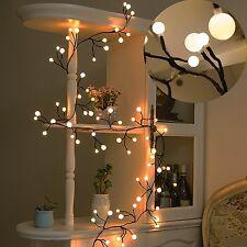 Decor Lights Fairy LED Globe String Lights 72 Bulbs for Bistro Cafe Christmas