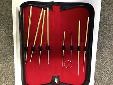 SNAKE PROBE SET 8 PIECE SILVER COLORED IN DELUXE CASE