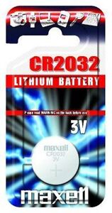 1 x Maxell CR2032 Batteries Lithium Battery 3V Button Coin Cell CR 2032 DL2032