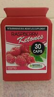 RASPBERRY KETONES WEIGHT LOSS FAT BURNERS DIET PILLS 30 CAPSULES BOTTLE rb