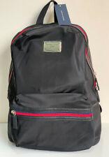 NEW! TOMMY HILFIGER BLACK NYLON W/ LAPTOP SLEEVE TRAVEL BACKPACK BAG $98 SALE