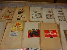 15étiquettes vins  anciennes des corbiéres roussillon   1947-1949!!!!et autres .