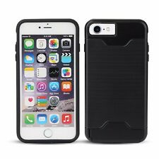 iPhone 7 Apple Phone Case Kickstand Cardholder Shockproof Black