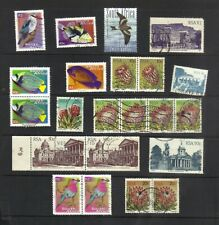 RSA - SOUTH AFRICA COLLECTION 14 DIFFERENT (22 STAMPS) FINE USED Fish & Birds +
