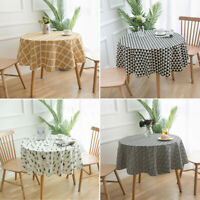 150cm Table Cover Party Tablecloth Round Cotton Covers Cloths Home Kitchen Decor