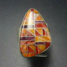 Mine Finds JAY KING Spiny Oyster Shell INLAY RING Desert Rose Trading DTR size 7