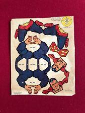 """1950's, SUPERMAN,""""Un-Used"""",  """"Kellogg's DANGLE-DANDY"""" w/Original AD (Scarce)"""