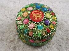 Thailand Elephant Colorful Tin Trinket Box (D11)