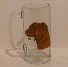 Chesapeake Bay Retriever Dog Beer Mug set 2 Hand Painted by Pet Lovers Boutique