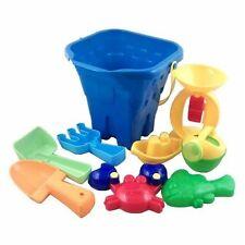 Beach Toys - 9 Pieces Blue Bucket Set (TY011)