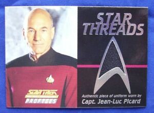 Star Trek TNG The Next Generation Profiles Star Threads Costume Card Picard