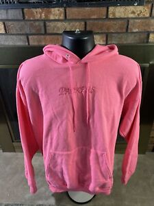 Green Bay Packers NFL Football Hooded Pink Embroidered Sweater Womens Size Large