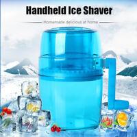 Portable Hand Crank Manual Ice Shaver Kids Shredding Snow Cone Maker Machine