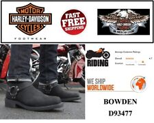 Harley-Davidson D93477 Men's Bowden 11.5-In Black Harness Style Motorcycle Boots