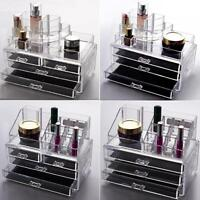 Clear Acrylic Drawers Cosmetic Makeup Display Storage Vanity Table Organiser Box