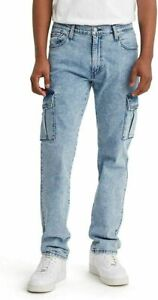 LEVI'S 541 ATHLETIC FIT CARGO JEANS BLUE MENS 30X32 NWT RT$79 0000 C13