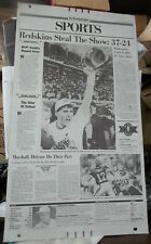 Washington REDSKINS 1992 Super Bowl Champs WASHINGTON POST PRINTING PLATE