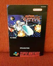 Super R-Type-cómo jugar/manual de instrucciones/cuadernillo-SNES