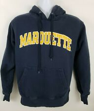 Champion Marquette Golden Eagles Blue Pullover Hoodie Mens Size S