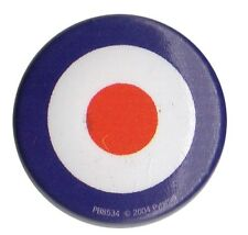 Mod Target Logo Roundel 1 inch Button Pin Badge Parka Scooter