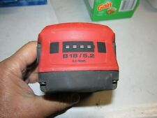 Hilti B 18/5.2 Ah Li-ion Battery Pack 21.6v  USED & NICE  (336)