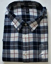 New Special Value Long Sleeve Blue Plaid Cotton Flannel Shirt / 3XLT