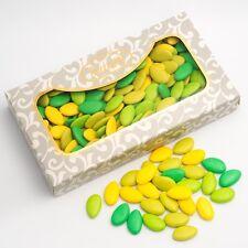 été nuances Vert et jaune chocolat dragées LUXE CADEAU DE MARIAGE sucreries