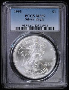 1995 American Silver Eagle PCGS MS 69 | UNC BU