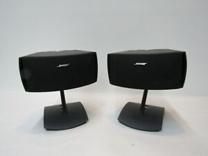 2 BOSE SPEAKERS SURROUND SOUND SPEAKERS ON STANDS BOSE GREAT CONDITION