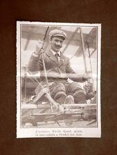 L'aviatore NICOLAS KINET Morto cadendo presso Stoekel nel 1910