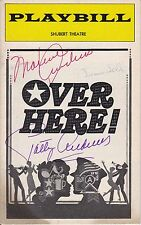 The Andrews Sisters Signed OVER HERE Broadway Playbill 1974