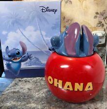 """DISNEY Lilo & Stitch Cookie Jar Cookies OHANA 10"""" NEW IN BOX HEAD IN JAR"""
