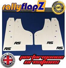 Ford Focus RS Mk3 mudflaps MUD FLAPS guardias y Acero Inoxidable Fijaciones-Blanco RSB